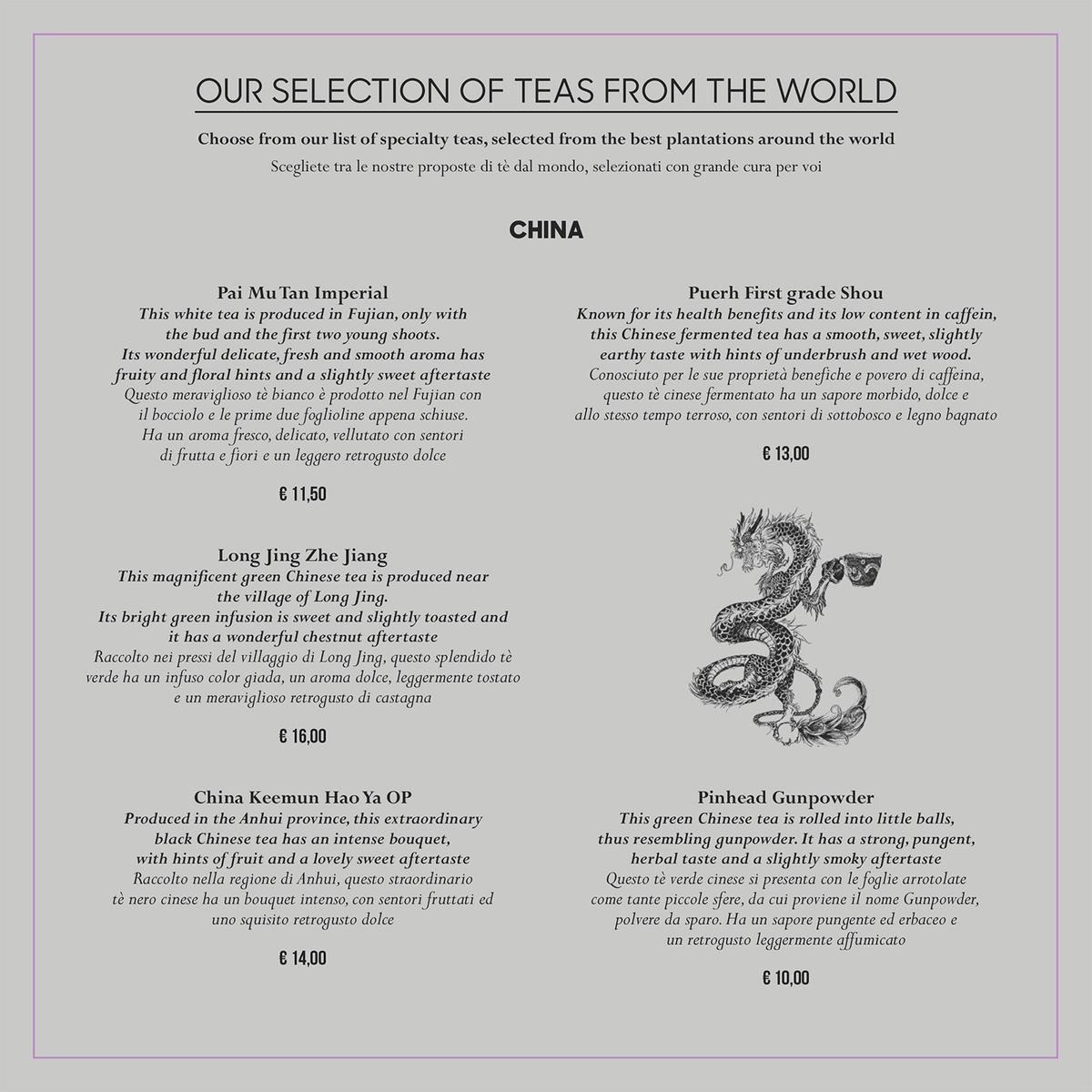 Lista dei tè