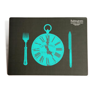 """It's Time for Tea"" Placemats - Green - Placemats"