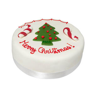 Rich Christmas Fruit Cake - Merry Christmas con Candy stick - Our cakes and pastries