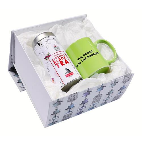"Gift Box Christmas Black Tea & Tazza ""Bowler Hat"" -"