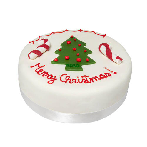 Rich Christmas Fruit Cake - Merry Christmas con Candy stick - La nostra pasticceria