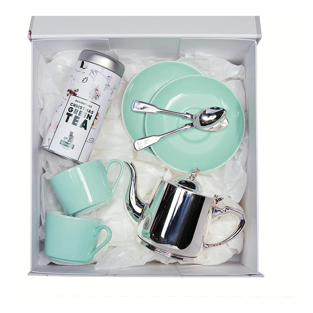 Gift Box Christmas Green Tea & Servizio da tè -